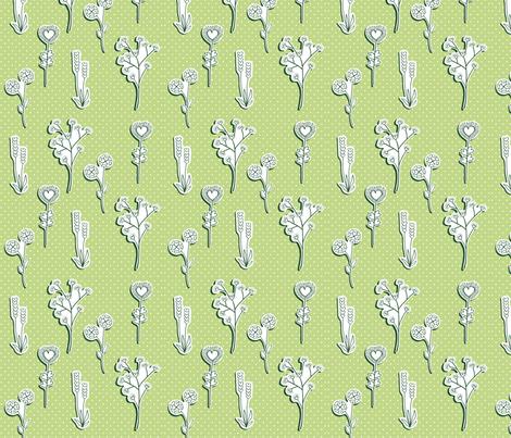 valentineflowers fabric by rhubarbdesign on Spoonflower - custom fabric