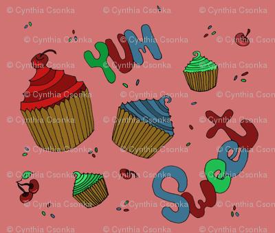 Sweet Graffiti Cupcakes Yum!
