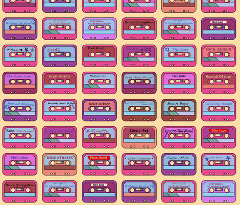 Tapes from the 80's fabric by snigne on Spoonflower - custom fabric