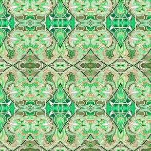 Interlocking Nouveau Greens