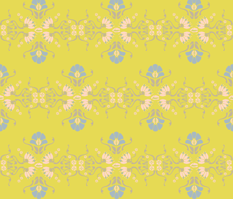 Art Deco Floral fabric by jara_by_jacki on Spoonflower - custom fabric