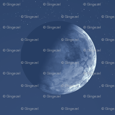Blue Alien Moon © Gingezel™ 2012