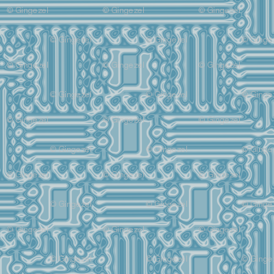 Aqua Abstract Geometric © Gingezel™ 2012