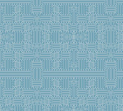 Aqua Abstract Geometric © Gingezel™ 2012 fabric by gingezel on Spoonflower - custom fabric