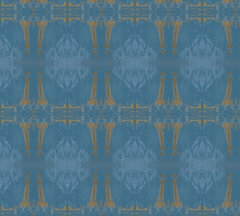 Eiffel Tower in a Snow Storm fabric by susaninparis on Spoonflower - custom fabric