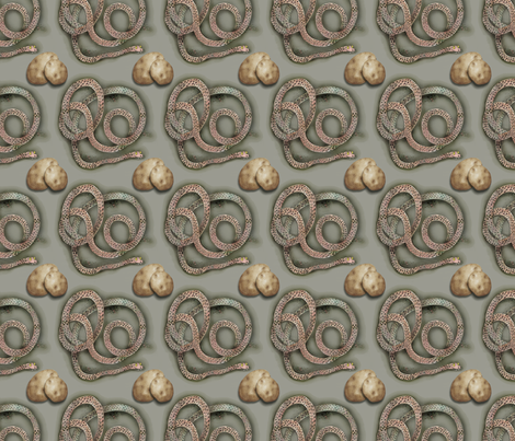 Snake and Potatoes fabric by supermoxie on Spoonflower - custom fabric
