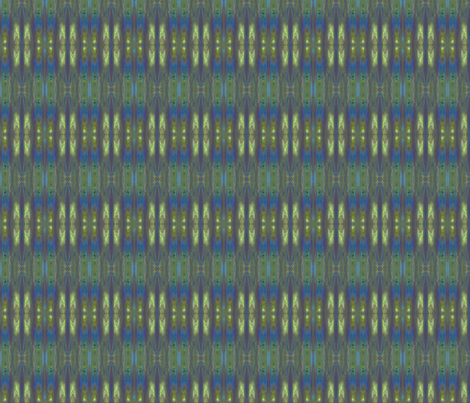 Blue Green Fractal Stripe © Gingezel™ 2012 fabric by gingezel on Spoonflower - custom fabric