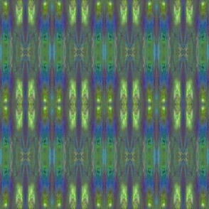 Blue Green Fractal Stripe © Gingezel™ 2012