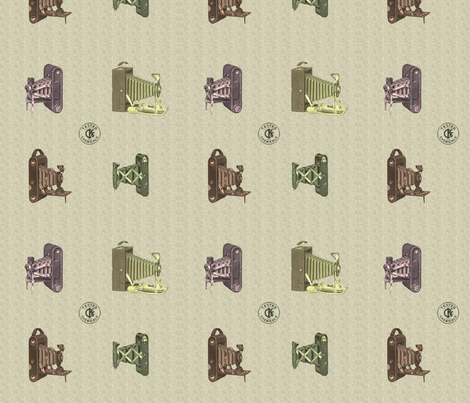 Vintage camera - multicolored  fabric by rachml on Spoonflower - custom fabric