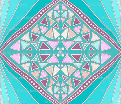 Turquoise diamonds by Su_G