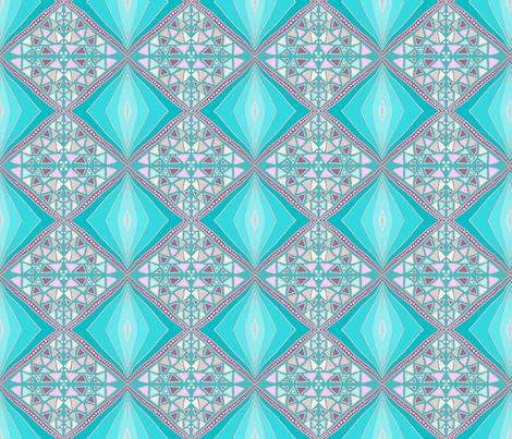 Turquoise diamonds by Su_G fabric by su_g on Spoonflower - custom fabric