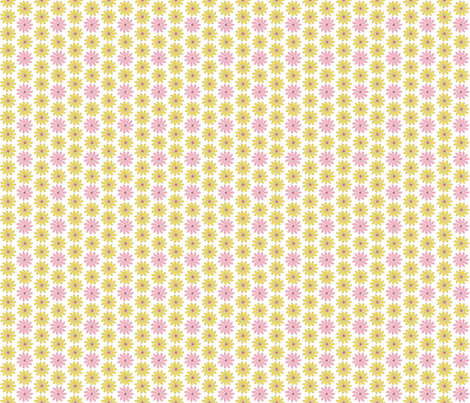 Yellow and Pink Ditsy Wildflowers fabric by cksstudio80 on Spoonflower - custom fabric