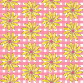 Pink Plaid with Summery Florals