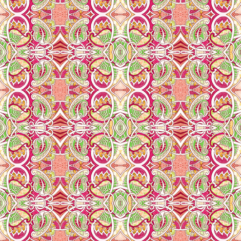 Bright Forties Paisley Jungle fabric by edsel2084 on Spoonflower - custom fabric
