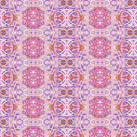 Persian Pink Wiggles fabric by edsel2084 on Spoonflower - custom fabric