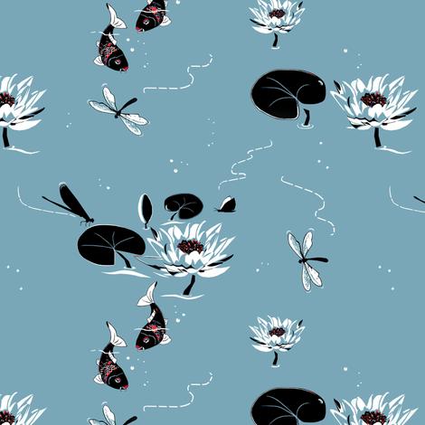 Koi_fish fabric by alfabesi on Spoonflower - custom fabric