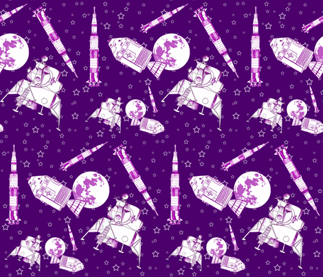 Apollo Mission fabric by engravogirl on Spoonflower - custom fabric