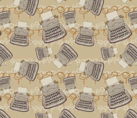 Typewriter_Repeat fabric by hlbyatt on Spoonflower - custom fabric