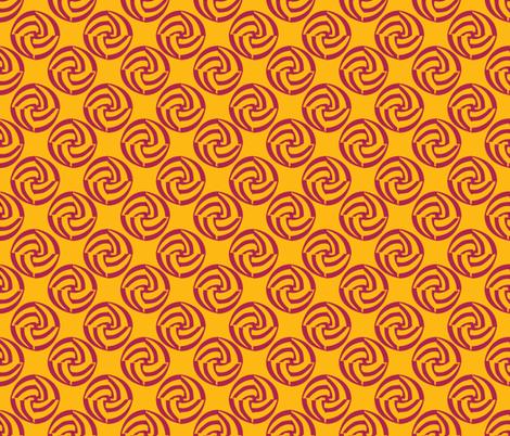 small swirleys - feel the heat fabric by glimmericks on Spoonflower - custom fabric