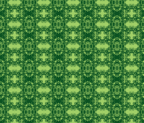tropical flowers- green fabric by jenmouse on Spoonflower - custom fabric