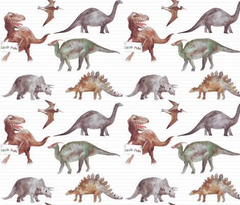 dinos fabric by katarina on Spoonflower - custom fabric