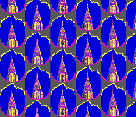 New York's Deco Queen - The Chrysler Building  fabric by robin_rice on Spoonflower - custom fabric