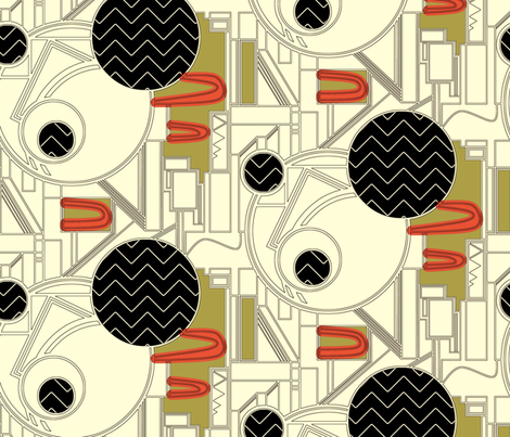 Burgh Zig Graphic (4 color) fabric by scrummy on Spoonflower - custom fabric
