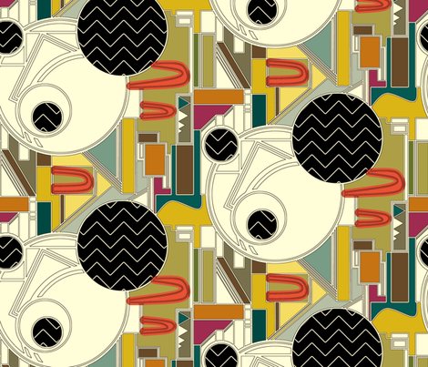 Burgh Zig Graphic (Color) fabric by scrummy on Spoonflower - custom fabric