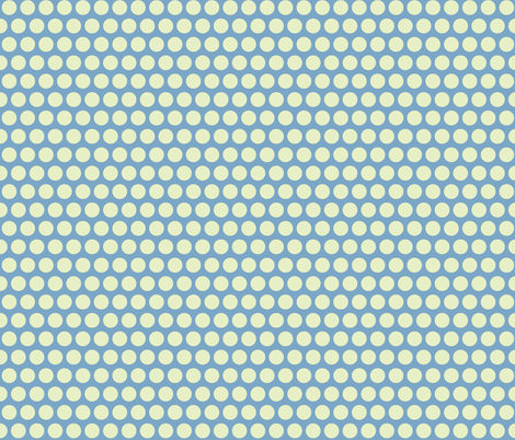 baby elephant ivory on blue polka fabric by scrummy on Spoonflower - custom fabric
