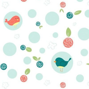Birds with Polka Dots