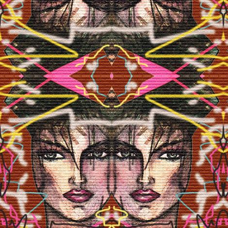 Graffiti 80s inspiration (2) fabric by lucybaribeau on Spoonflower - custom fabric