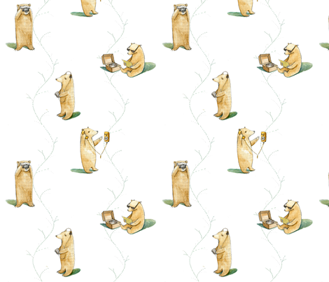 bearsies5 fabric by marylundquist on Spoonflower - custom fabric