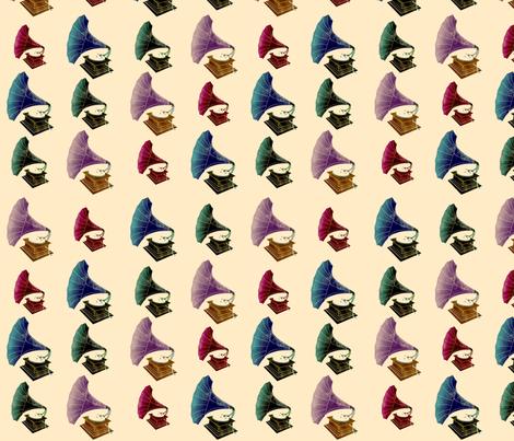 Phonographs! fabric by jubilli on Spoonflower - custom fabric
