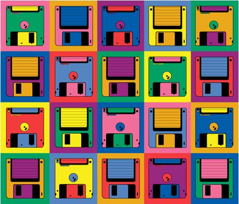 floppy_floppy_disk fabric by nncw12 on Spoonflower - custom fabric