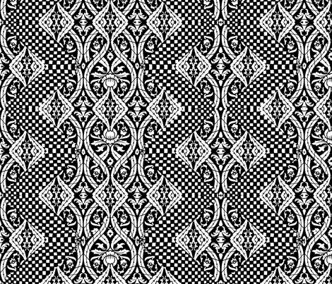 Black and White Lace pattern fabric by whimzwhirled on Spoonflower - custom fabric