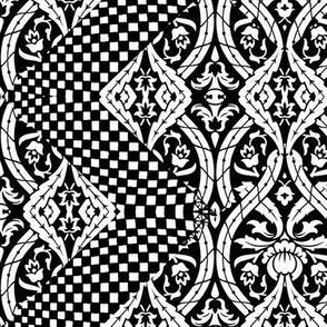 Black and White Lace pattern