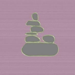 Cairn Rocks on Plum