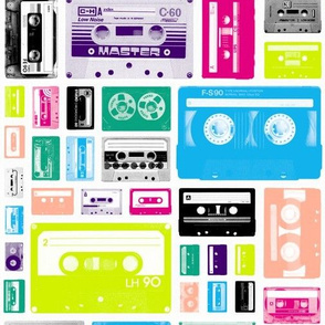 Mix Tapes || retro 70s 80s cassette music rock and roll collage vintage analog college dorm room hip hipster