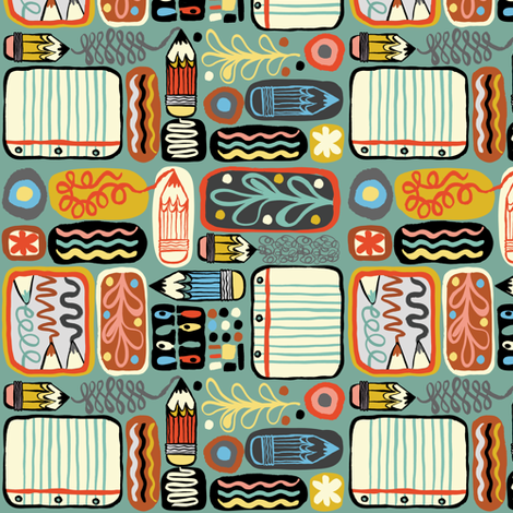 A Passion for Pencils fabric by gsonge on Spoonflower - custom fabric