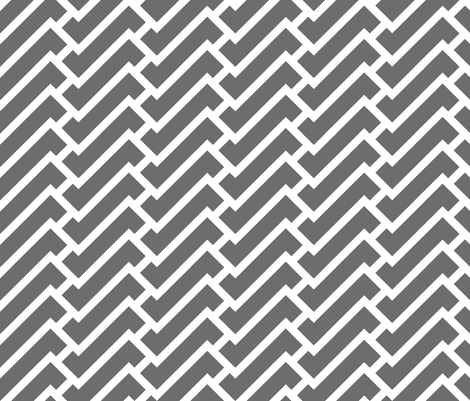 fretwork in charcoal fabric by domesticate on Spoonflower - custom fabric