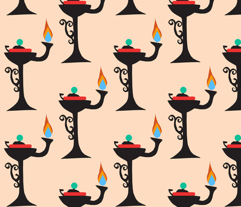 Whale Oil Lamps fabric by boris_thumbkin on Spoonflower - custom fabric