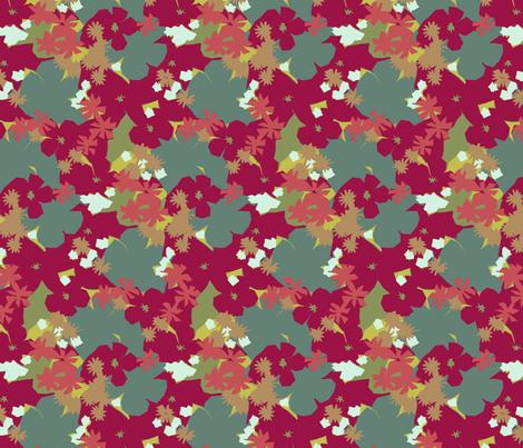 Funky Floral fabric by littlerhodydesign on Spoonflower - custom fabric