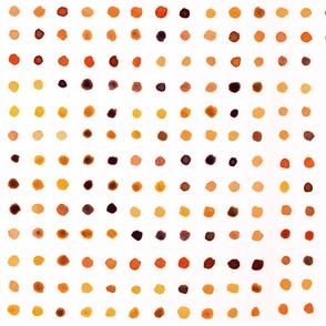Watercolour Dots in Orange