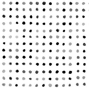 Watercolour Dots in Gray