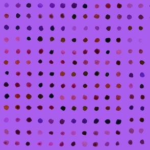 Watercolour Dots in purple