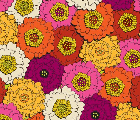 UrbanBouquet fabric by ghennah on Spoonflower - custom fabric