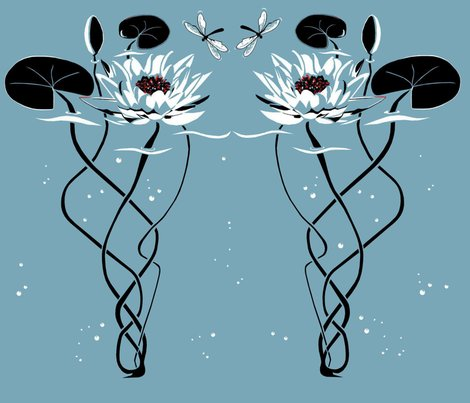 Rrwater_lily_-_art_deco_style_shop_preview