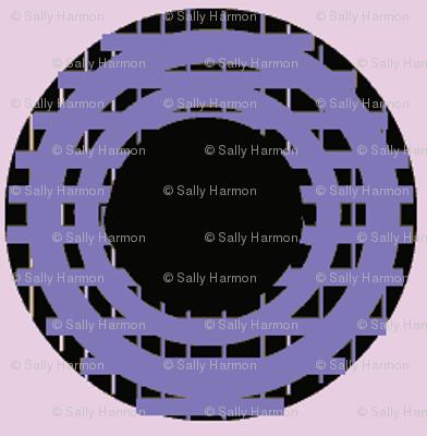 Purple Grid Dots