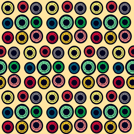 VIntage Multi Grid Button Dots fabric by boris_thumbkin on Spoonflower - custom fabric