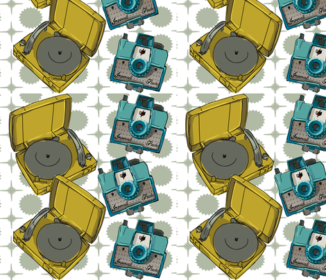 camerasrecordplayers fabric by jessamarie on Spoonflower - custom fabric